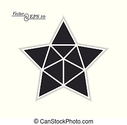 Frame for photos and images in the shape of a star. Mosaic. Retro style. Collage template. Vector isolated background.