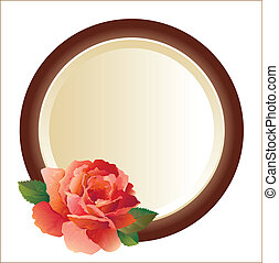 frame for picture with rose