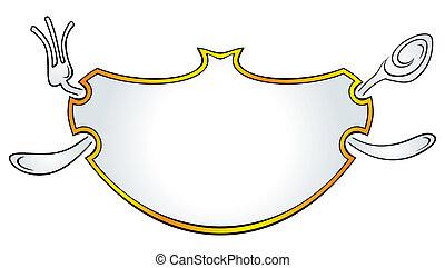 Frame for restaurant