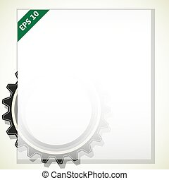 frame for text with gears