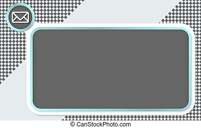 Frame for your text and envelope