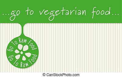 Frame for your text and icon of raw food