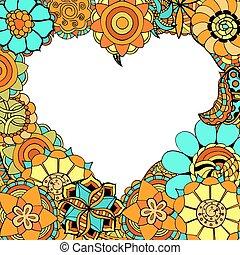 flowers in the shape of heart