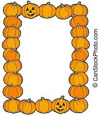 Frame from pumpkins