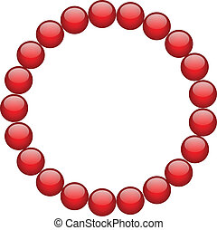 frame from red beads
