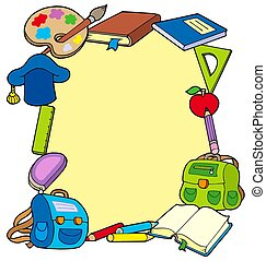 Frame from school objects