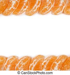 frame from tangerine slices