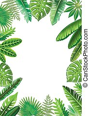 Frame from tropical leaves