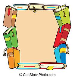 Frame from various books - vector illustration.