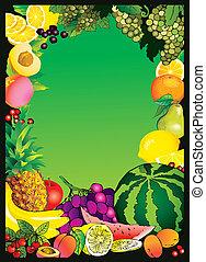 frame., fruits