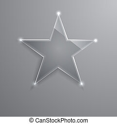 frame glass star. Vector illustration. Eps10