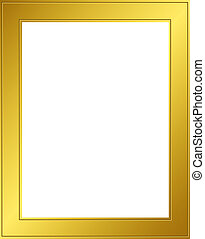 Frame - Gold 1 - Golden frame with clipping path. Digital...