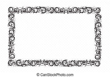 Frame gold ornamental design