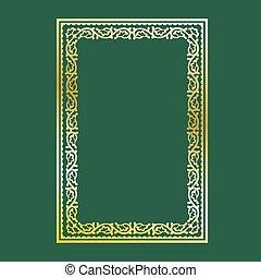 frame, goud, decoratief