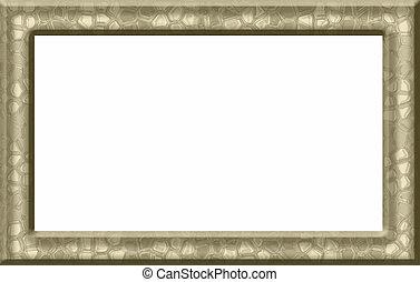 frame, goud, textured