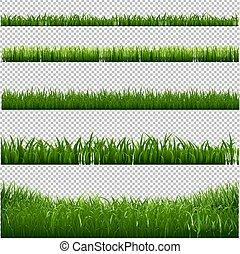 frame, gras, randjes, achtergrond, transparant