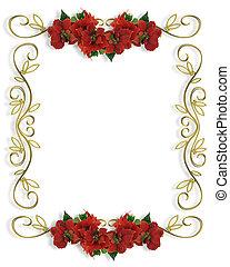 frame, grens, kerstmis