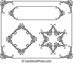 frame, grens, ontwerp