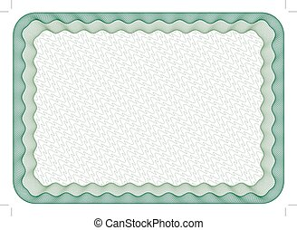 Frame - Guilloche frame, border, with round corners, size A4