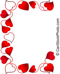 Frame heart_3 - Frame for a photo as red hearts