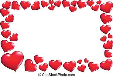Frame hearts