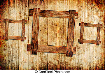 frame, hout, achtergrond