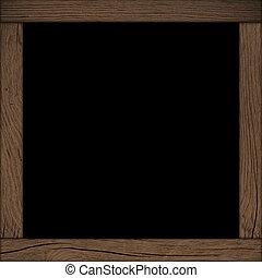 frame, hout, zwarte achtergrond
