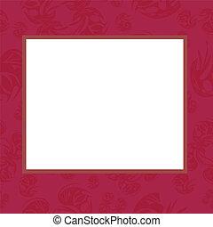 Frame in rose tones, vector, illustration