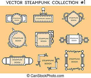 frame in steampunk style