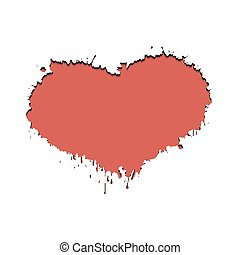 Frame in the form of heart