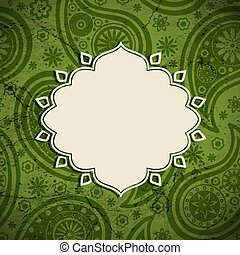 Frame in the Indian style on a grunge background - Frame in...