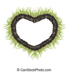 heart of green grass