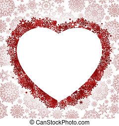 Frame in the shape of heart. EPS 8