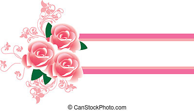 Frame in the Victorian style, with roses