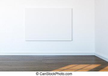 frame in white room