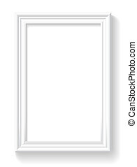Frame is on the white wall. - Frame is on the white...