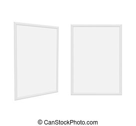 frame Isolated on White Background, 3D rendering