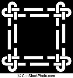 frame, keltisch, vector, knoop