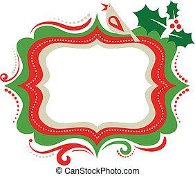 frame, kerstmis, 3, -