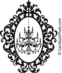 frame, kroonluchter, afbeelding