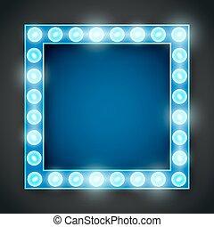 frame, lamp