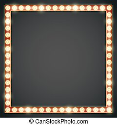 Frame lamp - Dark red gold colored vector retro looks frame...