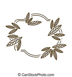 frame leaves with branch contour