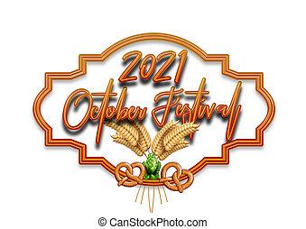 Frame, Lettering, October Festivale, Fun, Party