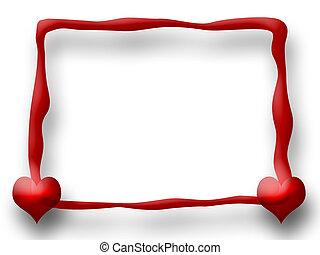 frame, liefde, rood