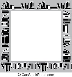 Frame made of books
