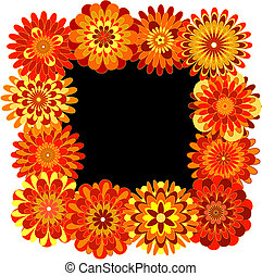 Frame made of geometric flowers
