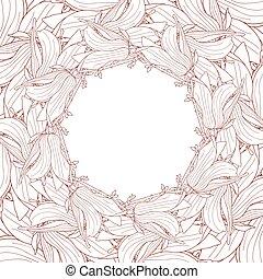 Frame made of magnolia soulangeana flowers