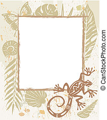 Frame made of natural objects
