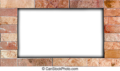frame made of natural stone in grunge style